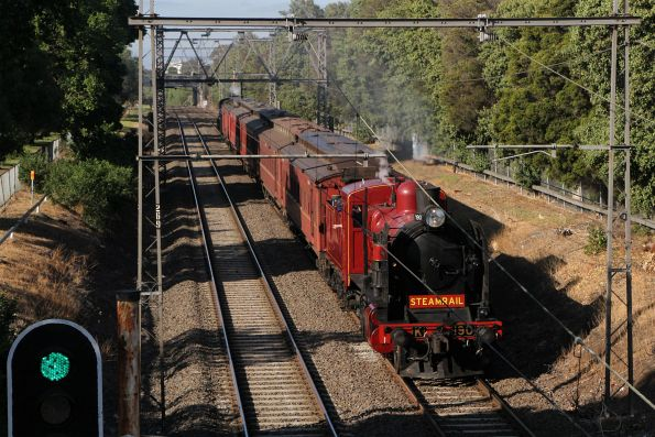 Steamrail - Essendon-Broadmeadows shuttles, November 2018