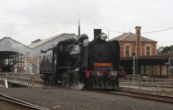 K 190 departs for the turntable