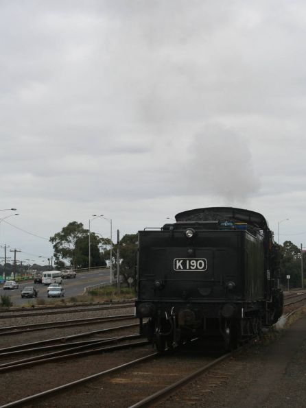 K 190 headed for the turntable