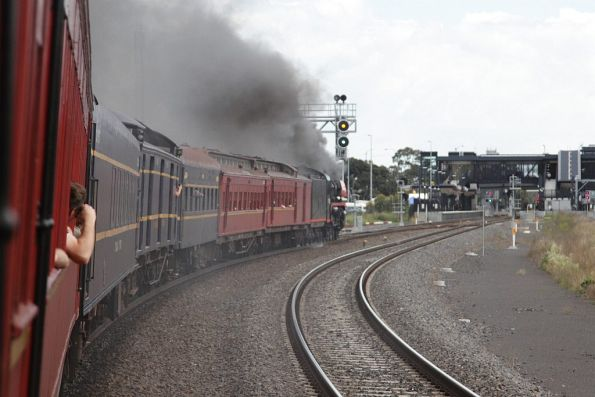 Steamrail - Geelong line parallel run, October 2016