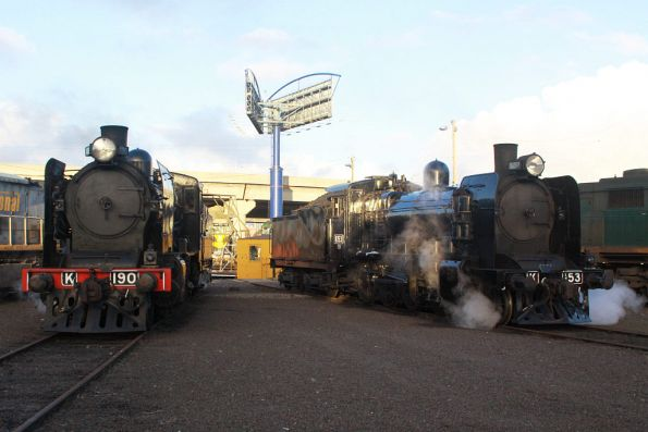 Steamrail locos at South Dynon due to the Glen Waverley shuttles, and an occupation on the line at Newport