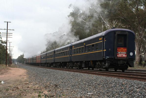 Tail of the train between Seymour and Mangalore