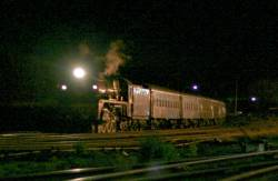 The R finally arrives into Seymour at 2:09 am