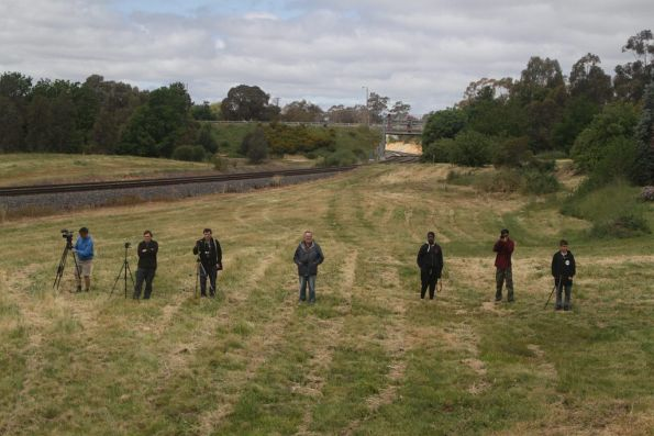 Lineside photographers outside Castlemaine station