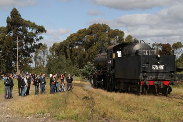 J549 shunts around to the front of the consist