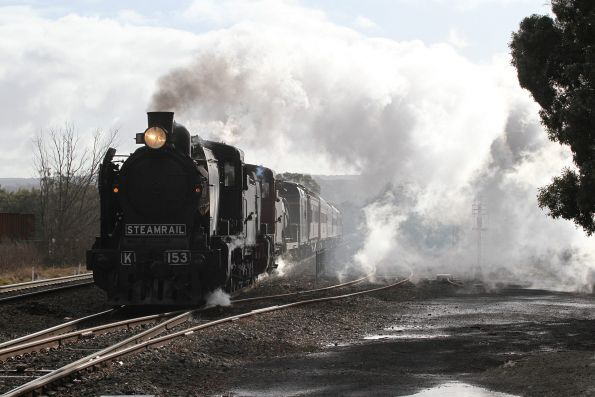 K153 and K190 lead the train through Gisborne
