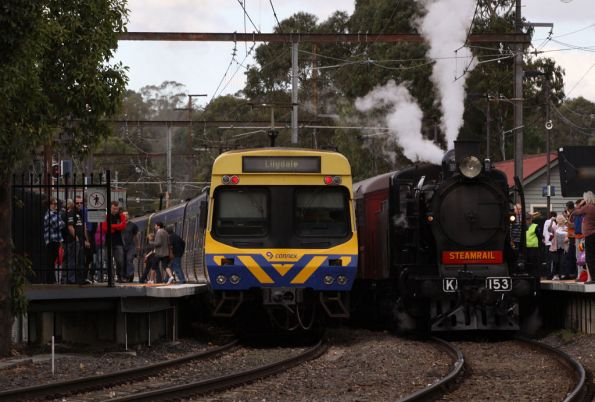 Crossing a down spark at Mooroolbark