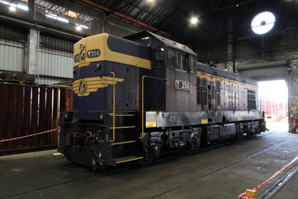 T365 in the Steamrail sheds