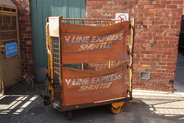 BRUTE carrier branded for 'V/Line Express Shuttle'