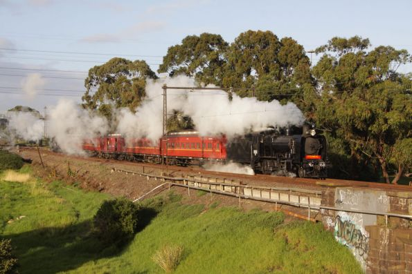 Steamrail - Berwick-Pakenham steam shuttles, April 2010