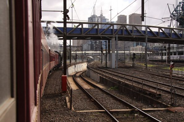 Missed by 'that' much - passing the Caulfield Loop portal at Richmond