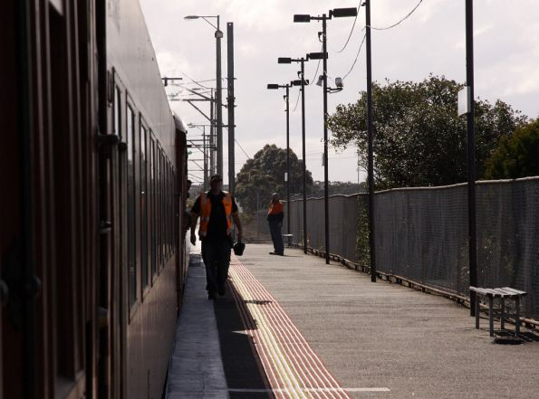 Crew changing ends at Upfield