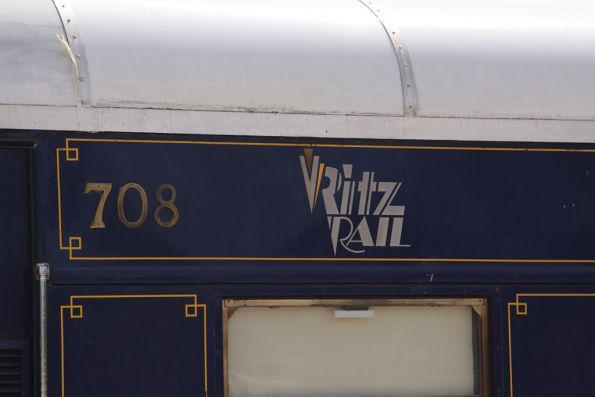 Private carriage 708, once owned by Ritz Rail / Northern Rivers Railroad