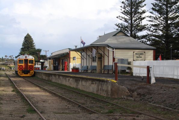 Goolwa station by the shores of the Murray River