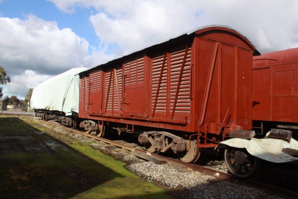 Various wagons stored out the back of the depot
