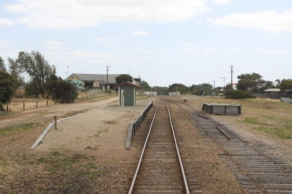 Station and platform at Middleton, most of the loop siding has had the rails pulled up