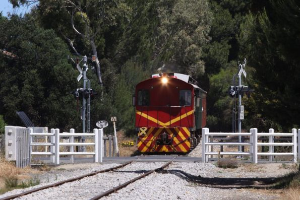 Passing the Yard Limit sign at Goolwa