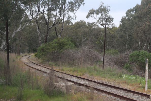Steamranger line peels away from the main line at Mount Barker Junction