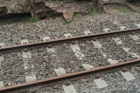 Gauge convertible concrete sleepers in the mainline at Mount Barker Junction