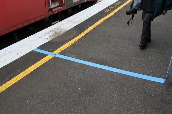 Blue line marks the Sprinter train stopping point at Stony Point