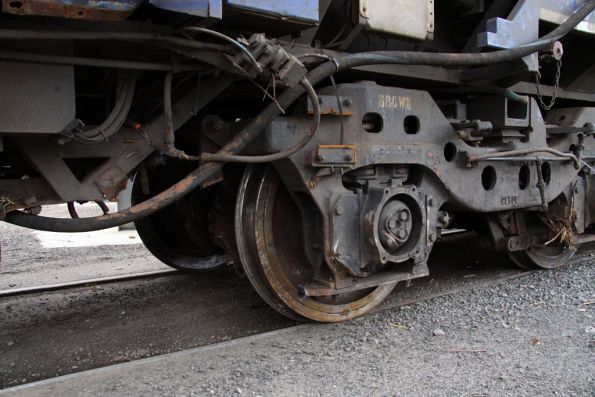 Bogie of N452 missing brake gear