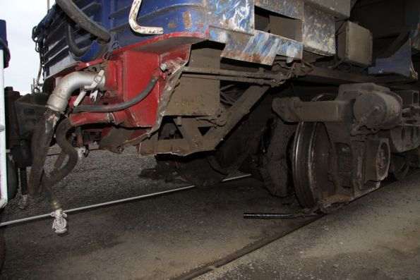 Brake gear cut off N452, cow catcher also removed