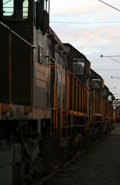 Stored locomotives at North Geelong Yard