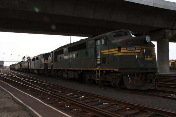 A79 leads the 10 stored locos at South Dynon - three A classes, four Y classes, one T class and two P classes?