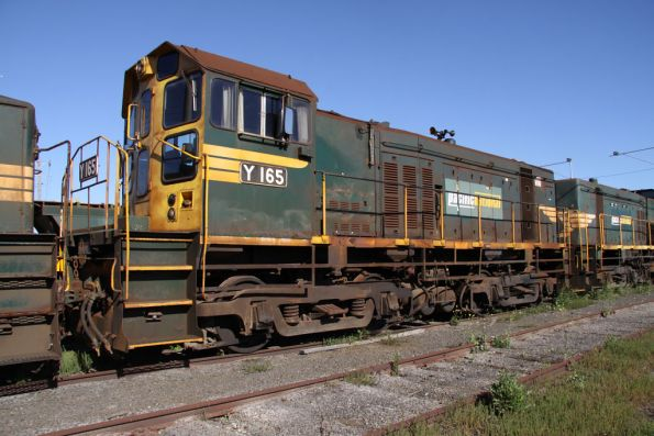 Y165 with driver only modifications stored at North Geelong Yard