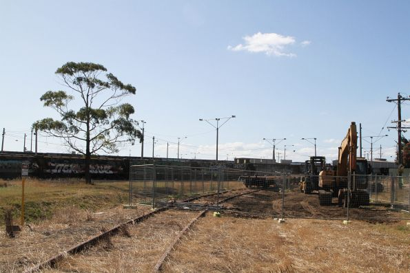 Empty scrap road on the former Fyansford line stub at North Geelong Yard