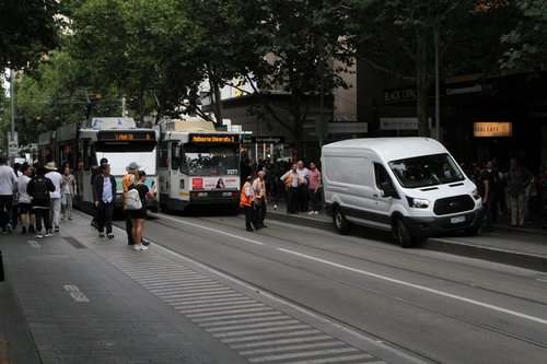 Yarra Trams staff also come over for a look