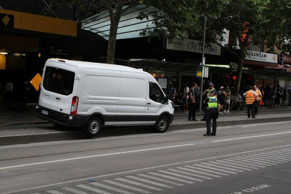 Victoria Police question the confused driver