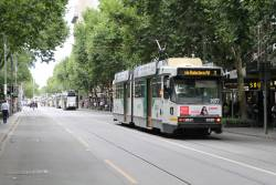 B2.2077 heads 'bang road' at Swanston and Little Collins Street