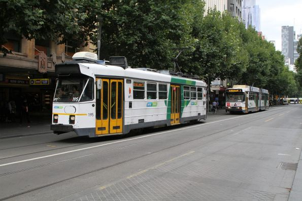 Z3.195 and B2.2077 head 'bang road' at Swanston and Collins Street