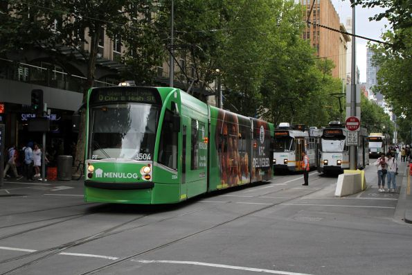 Stuck van at the Swanston Street tram stop