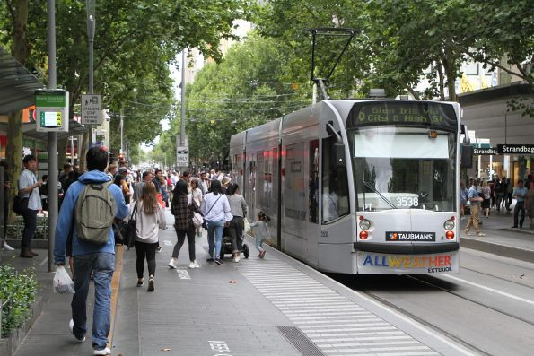 D1.3538 heads south at Swanston and Bourke Street