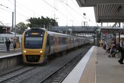 IMU162 at Bowen Hills with an Ipswich bound service