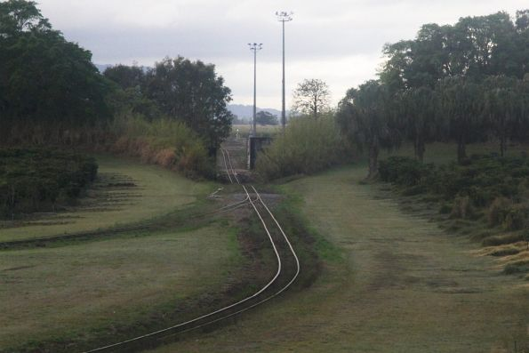 Tracks leading towards the Wilmar sugar mill at Proserpine