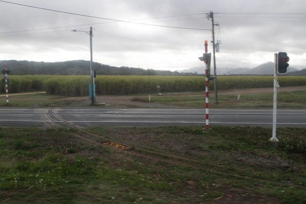 Road / tramway level crossing outside Proserpine