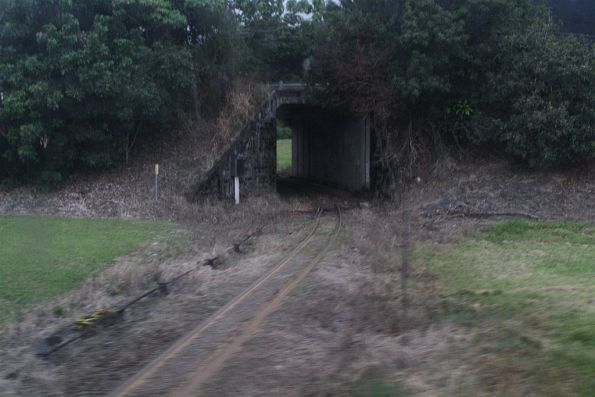 Tramway to the former Babinda mill passes beneath the Bruce Highway