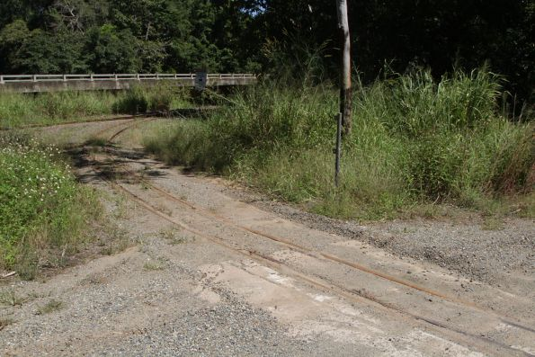 Cane tramway level crossing on a dirt road