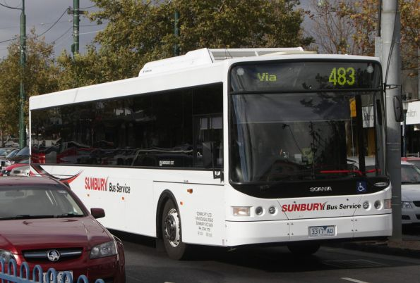 Sunbury Bus Service bus 3317AO on a route 483 service on Mount Alexander Road, Essendon North