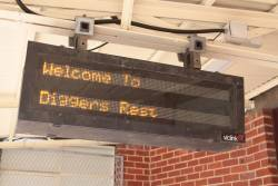 Useless PIDS at Diggers Rest station