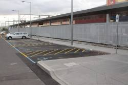 Disabled carparks at Sunbury with no safe wheelchair access to the footpath