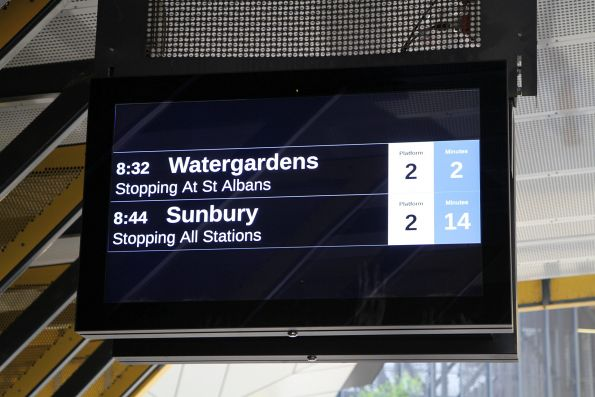 PIDS at Sunshine only showing outbound trains due to the disruption