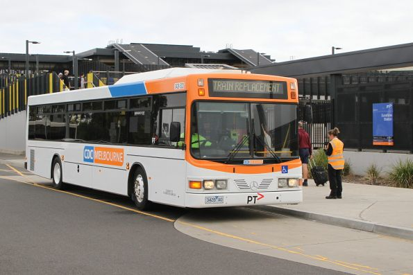 CDC Melbourne bus #23 3428AO at Sunshine station with a rail replacement service