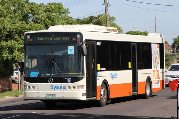Dysons bus #1067 BS04BM on a Sunbury line rail replacement service at Sunshine station