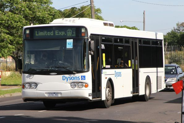 Dysons bus #759 3152AO on a Sunbury line rail replacement service at Sunshine station