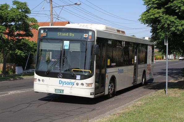 Dysons bus #1064 BS04BJ on a Sunbury line rail replacement service along Sun Crescent, Sunshine