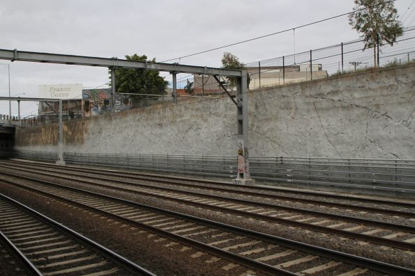 New cable trunking in the cutting at the up end of Footscray station